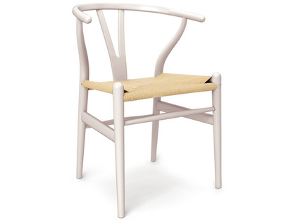 CH24 Wishbone Chair Rosy blush lacquered beech (Limited Edition)|Nature mesh