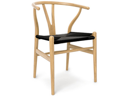 carl hansen søn ch24 wishbone chair oiled oak black mesh by hans