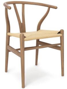 CH24 Wishbone Chair White Oiled Oak|Nature Mesh