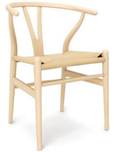 CH24 Wishbone Chair White Oiled Ash|Nature Mesh