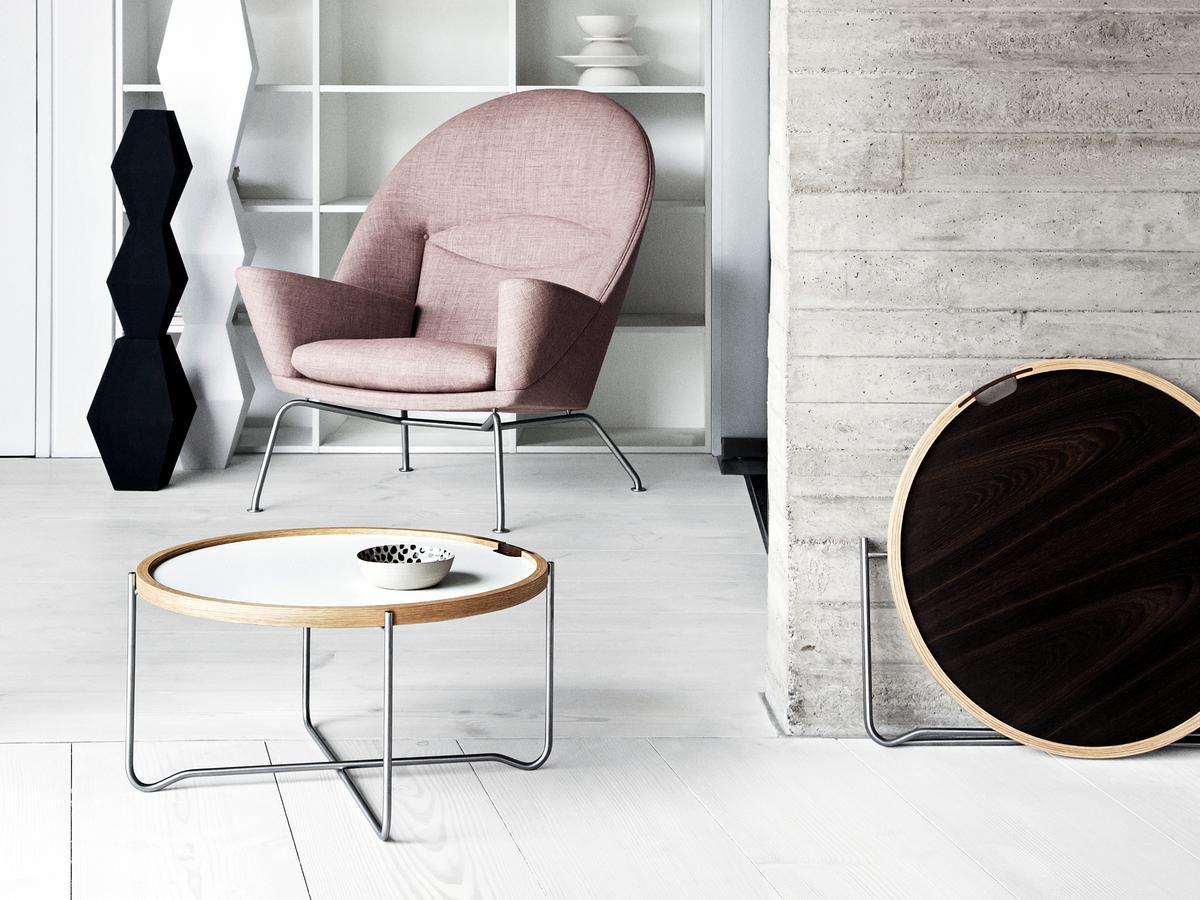 carl hansen s n ch417 tray table by hans j wegner 1970 designer furniture by. Black Bedroom Furniture Sets. Home Design Ideas