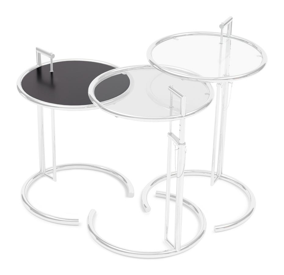 classicon adjustable table e 1027 replacement glass by eileen gray designer furniture by. Black Bedroom Furniture Sets. Home Design Ideas