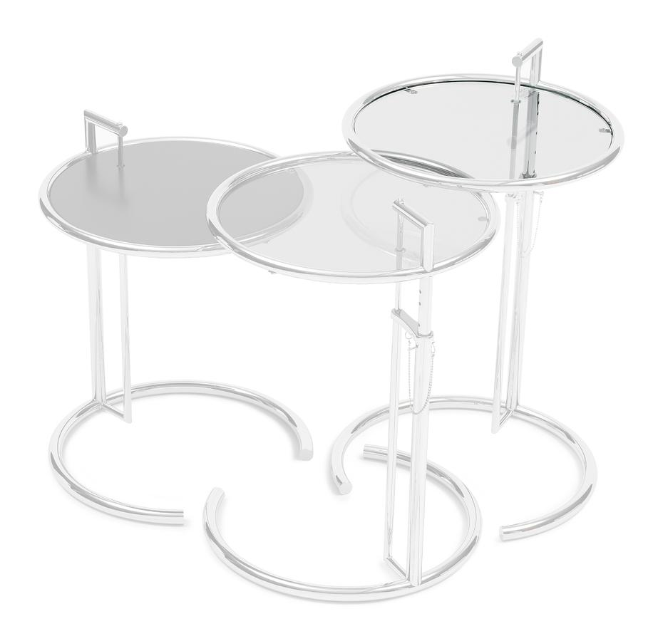 - ClassiCon Adjustable Table E 1027 Replacement Glass By Eileen Gray
