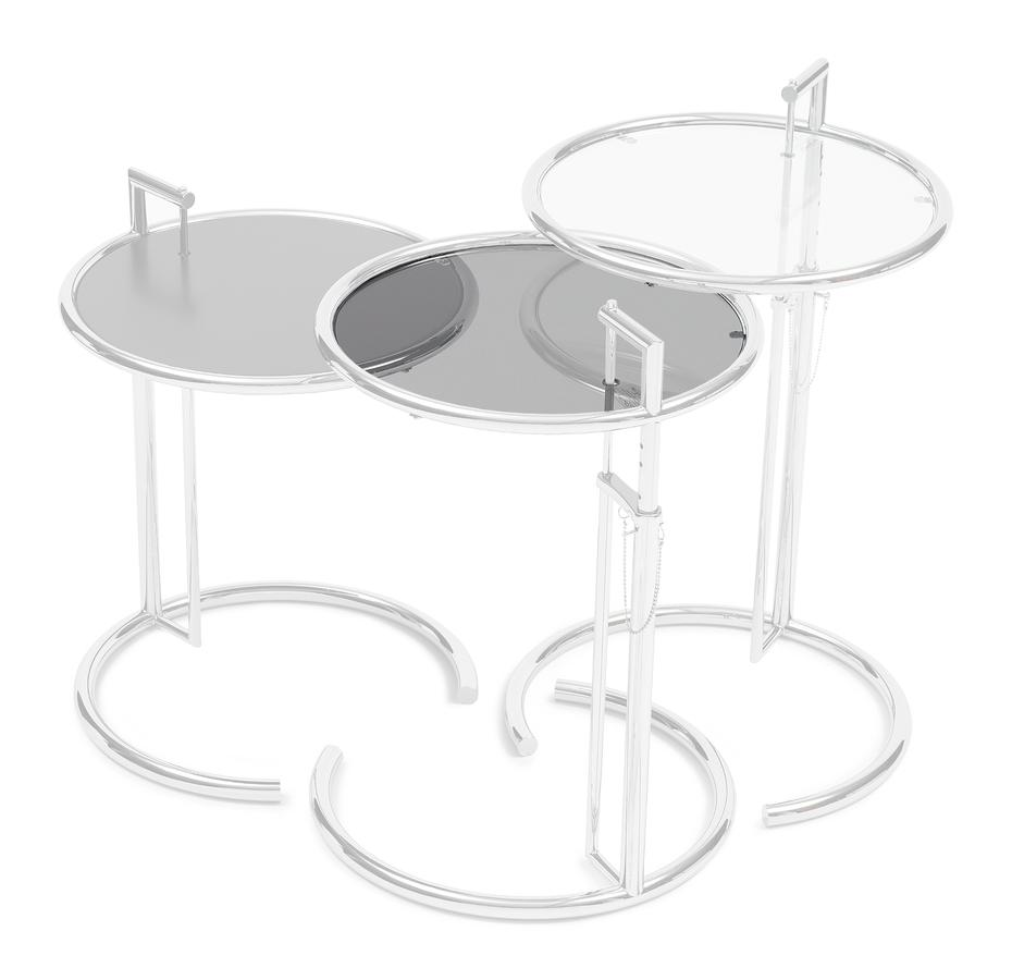 - ClassiCon Adjustable Table E 1027 Replacement Glass, Smoked Glass