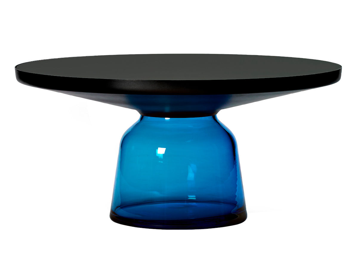 Picture of: Classicon Bell Coffee Table Black Burnished Steel Clear Varnish Sapphire Blue By Sebastian Herkner 2012 Designer Furniture By Smow Com