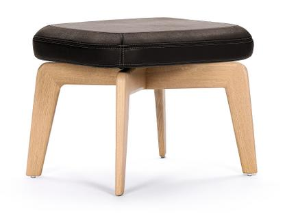 Munich Stool Classic Leather chocolate|Oak