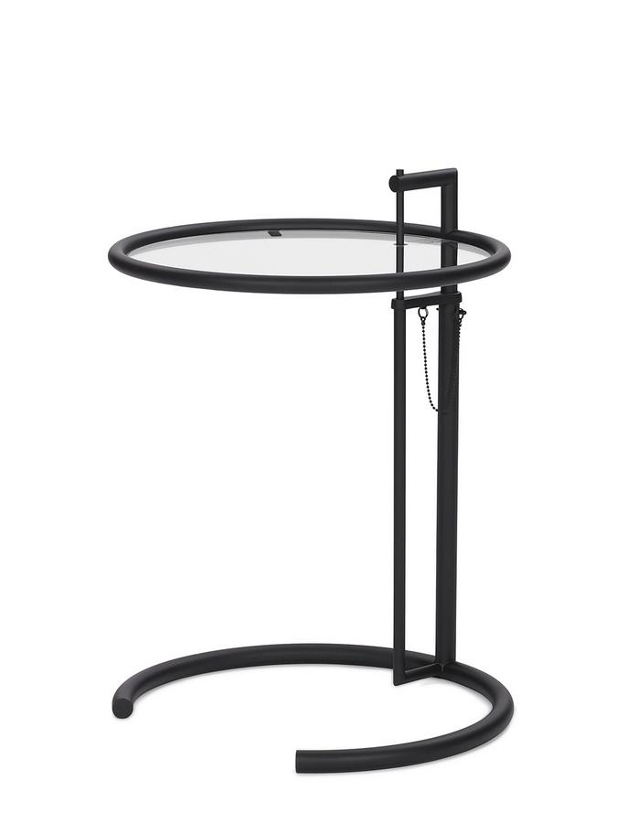 classicon adjustable table e 1027 black version by eileen gray 1927 designer furniture by. Black Bedroom Furniture Sets. Home Design Ideas