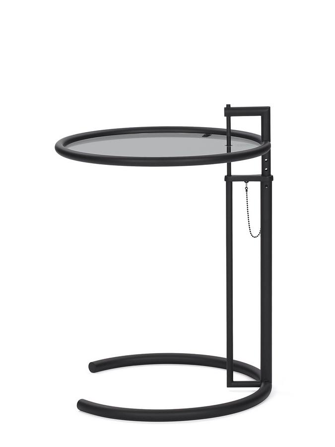 Classicon Adjustable Table E 1027 Black Version By Eileen Gray 1927 Designer Furniture By