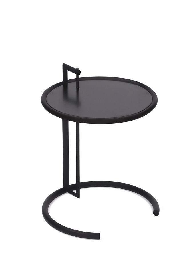 classicon adjustable table e 1027 black version black metal top by eileen gray 1927 designer. Black Bedroom Furniture Sets. Home Design Ideas