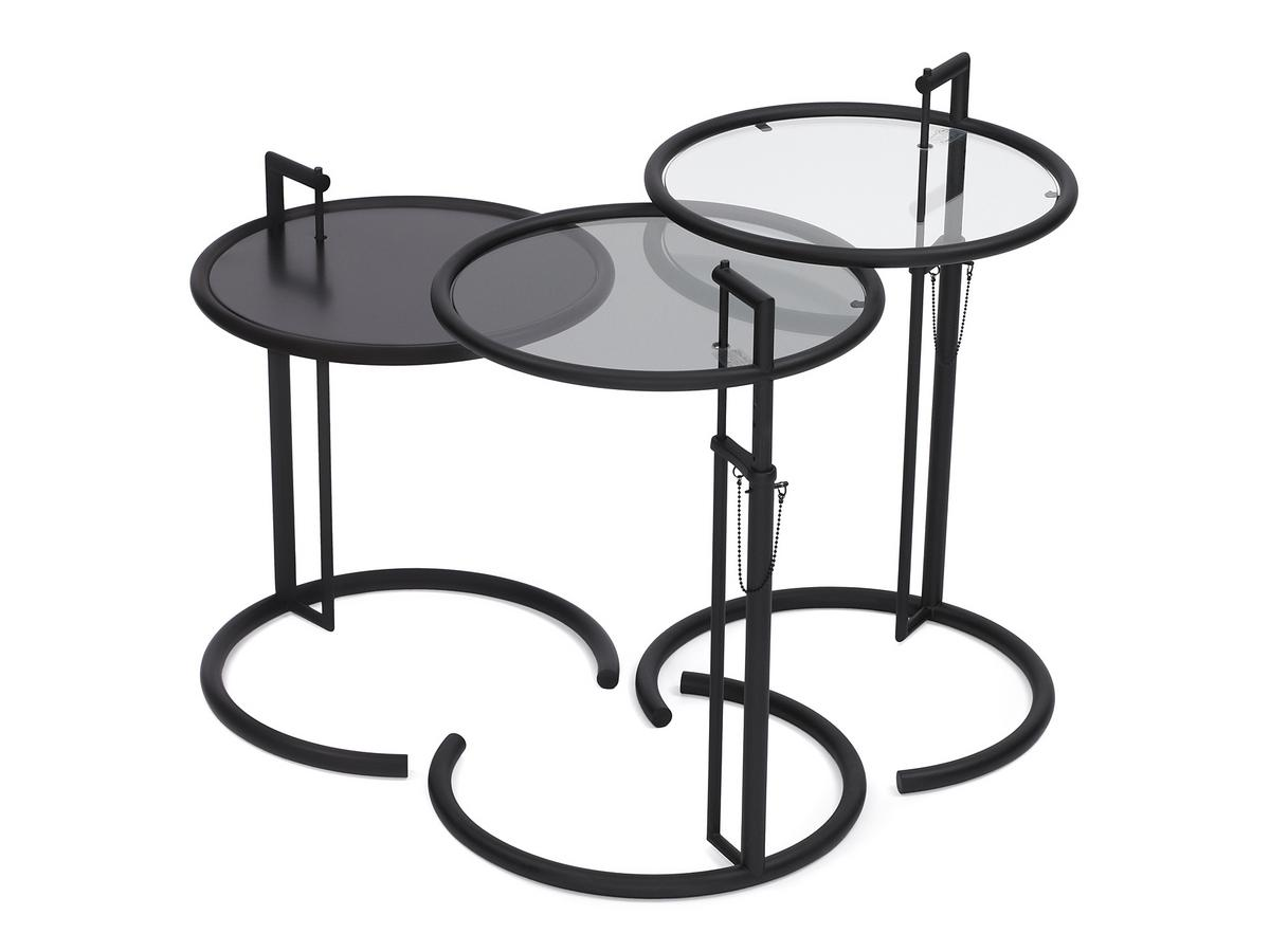 Adjustable Table E 1027 Black Version. By Eileen Gray ...