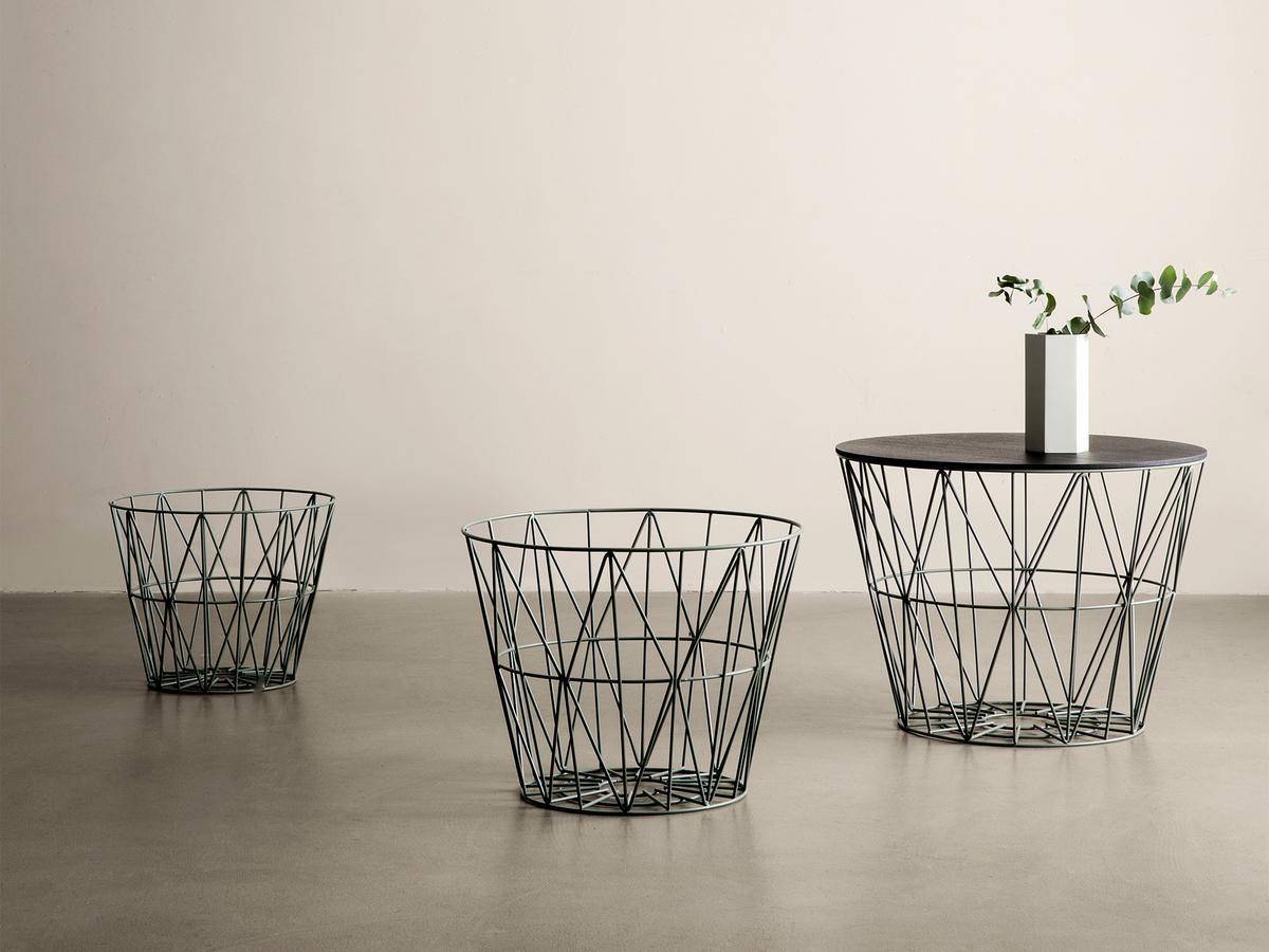 ferm living wire basket by ferm living 2012 designer furniture by. Black Bedroom Furniture Sets. Home Design Ideas