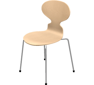 Ant Chair 3101 Special height 44 cm|Clear varnished beech|Natural