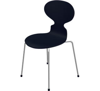 Ant Chair 3101 Special height 44 cm|Lacquer|Black