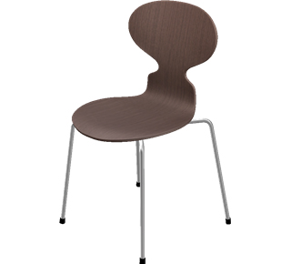 Ant Chair 3101 Special height 44 cm|Clear varnished walnut|Natural