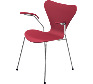 Series 7 Armchair 3207 46 cm|Lacquer|Opium red