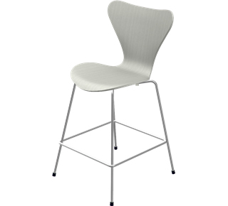 Series 7 Bar Stool 3187/3197 64 cm|Coloured ash|Nine grey