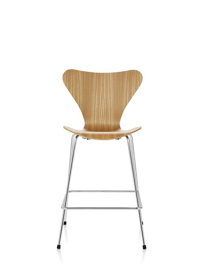 Fritz hansen series 7 bar stool 3187 3197 by arne jacobsen for Barhocker hamburg