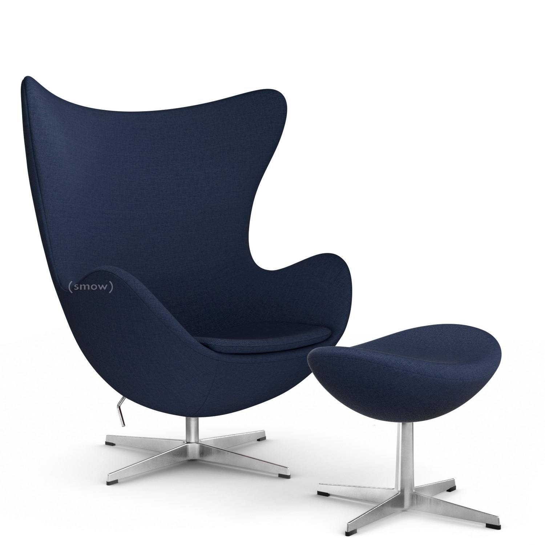 Fritz Hansen Egg Chair Christianshavn Christianshavn 1155 Dark Blue With Footstool By Arne Jacobsen 1958 Designer Furniture By Smow Com