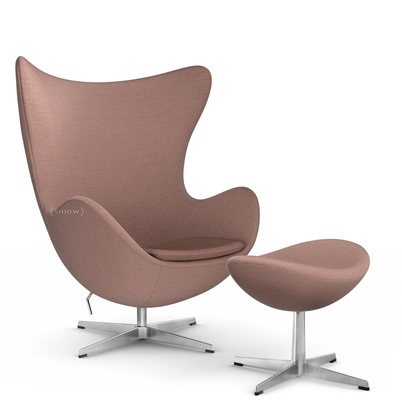 Fritz Hansen Egg Chair Christianshavn Christianshavn 1131 Orange Red With Footstool By Arne Jacobsen 1958 Designer Furniture By Smow Com