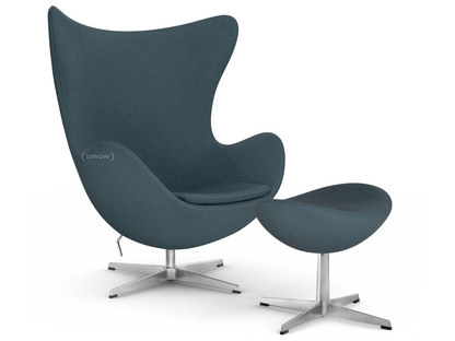 Egg Chair Divina|Divina 181 - Charcoal|With footstool