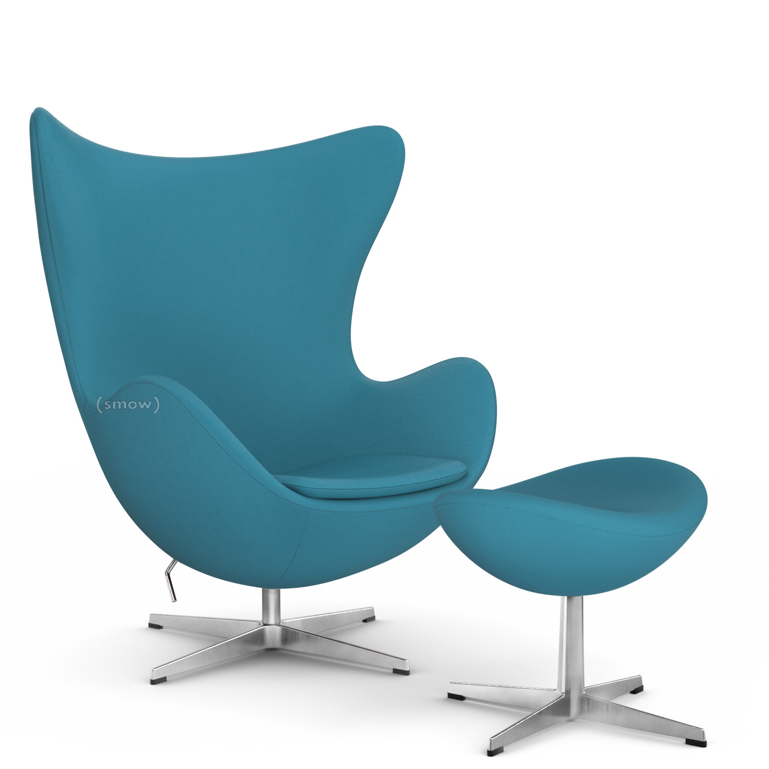 Egg Chair Divina Coral Green With Footstool