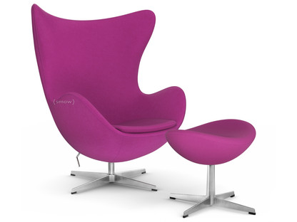 Captivating Egg Chair Divina Dark Pink With Footstool