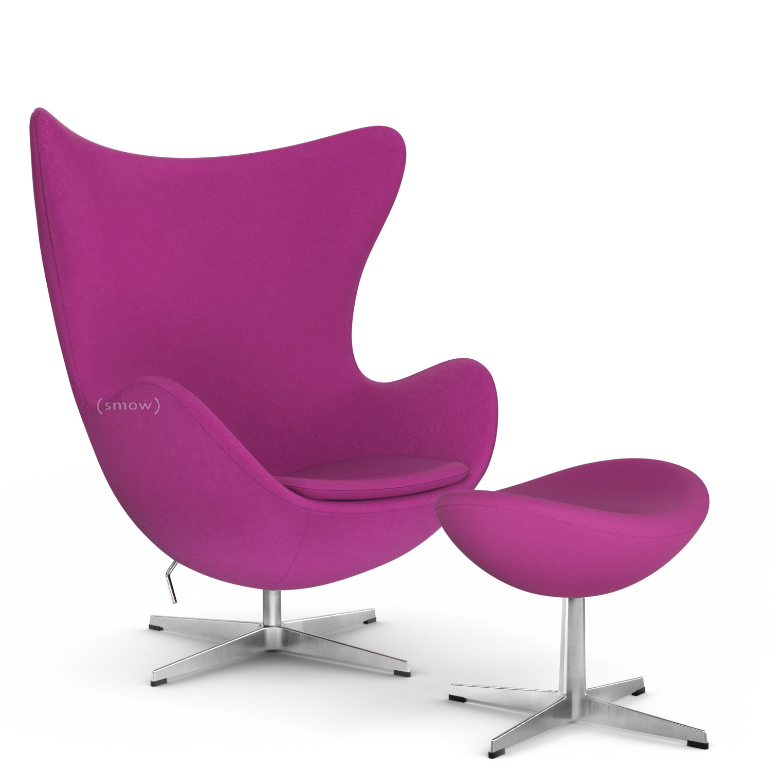 Exceptionnel Egg Chair Divina|Dark Pink|With Footstool