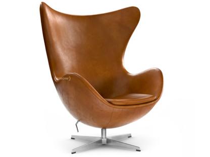 Egg Chair Arne Jacobsen Kopie.Fritz Hansen Egg Chair Leather Grace Walnut Without Footstool