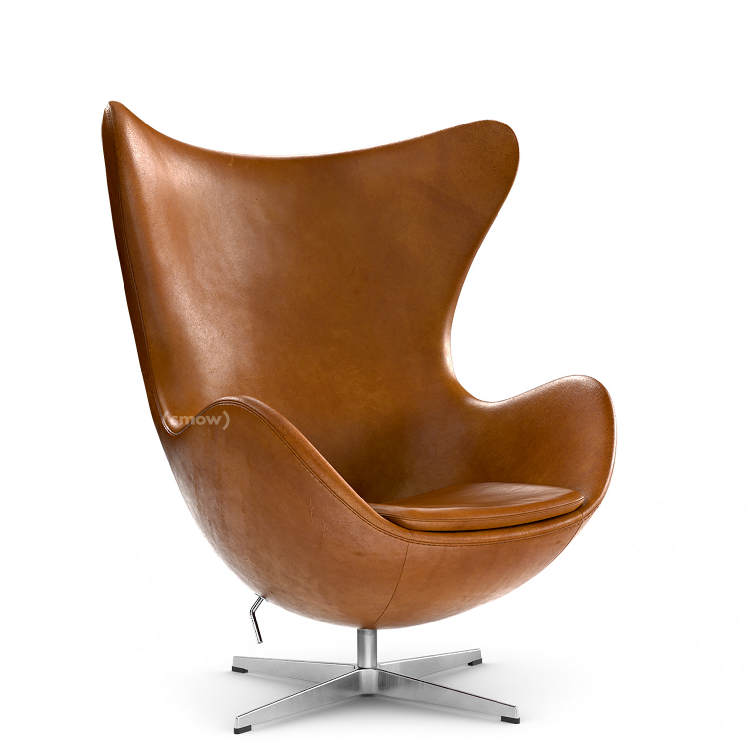 Fritz Hansen Egg Chair Leather Grace Walnut Without Footstool By Arne Jacobsen 1958 Designer Furniture By Smow Com