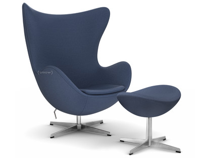 Egg Chair Fritz Hansen Colours|Blue|With Footstool