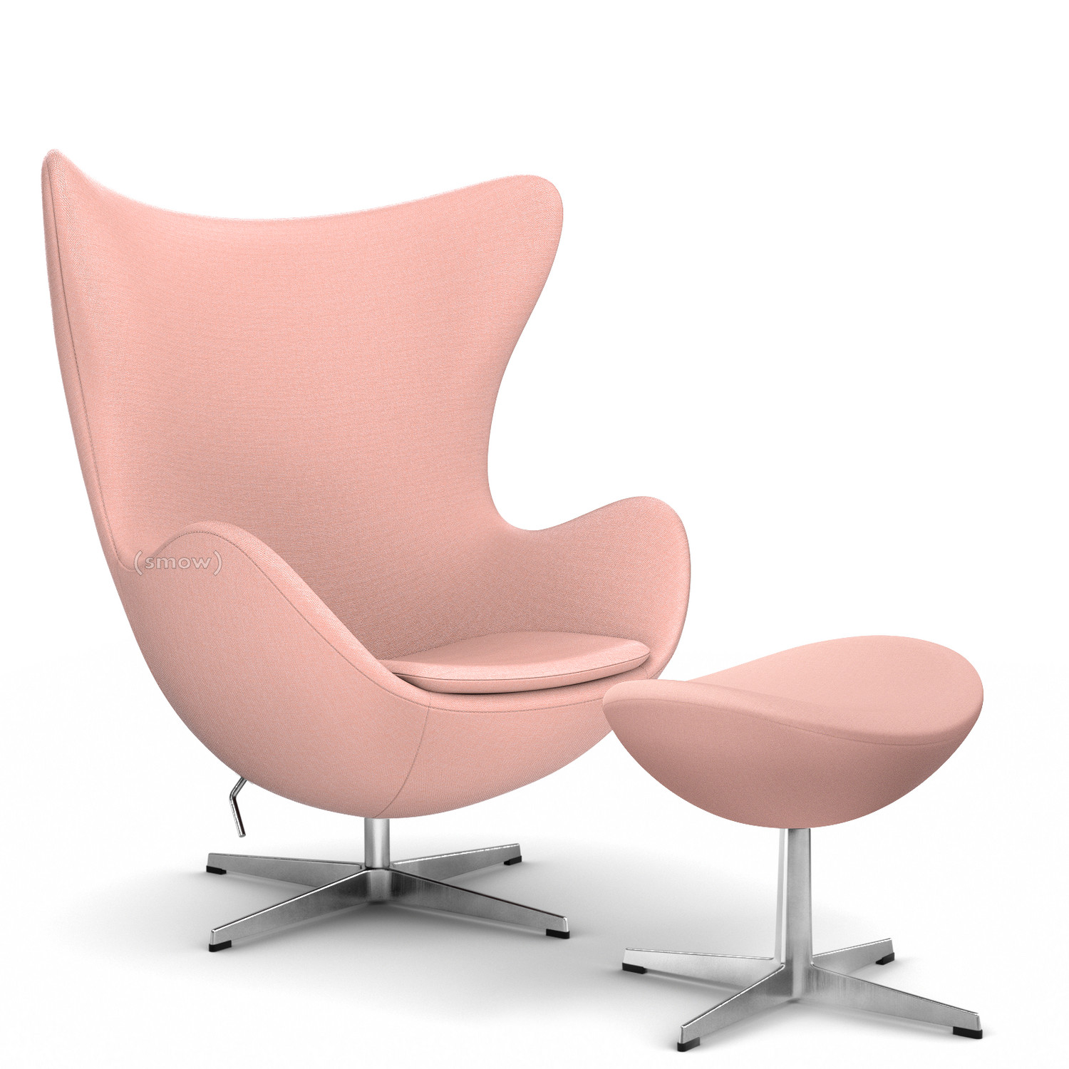 fritz hansen sessel ro 10, fritz hansen egg chair, fritz hansen colours, pink, with footstool, Design ideen