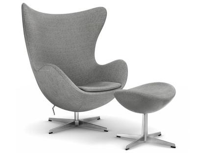 De Egg Chair.Fritz Hansen Egg Chair Hallingdal 65 130 Grey With Footstool