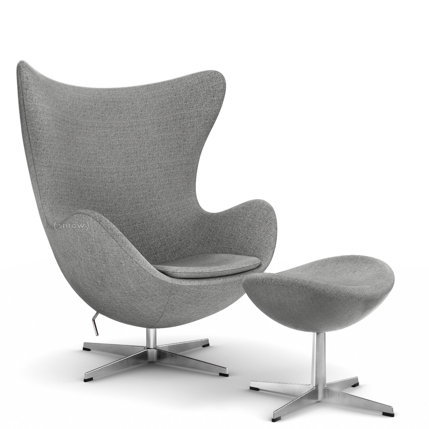 Egg Chair Hallingdal 65|Grey 130|With Footstool