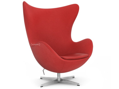Fritz Hansen Egg Chair Hallingdal 65 674 Red Without Footstool By Arne Jacobsen 1958 Designer Furniture By Smow Com