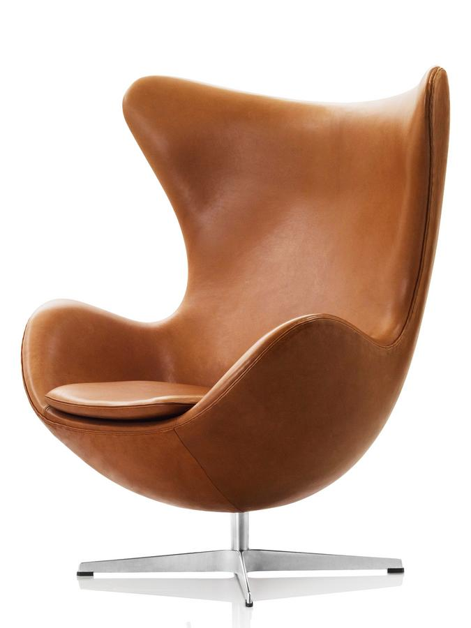 fritz hansen egg chair by arne jacobsen 1958 designer. Black Bedroom Furniture Sets. Home Design Ideas