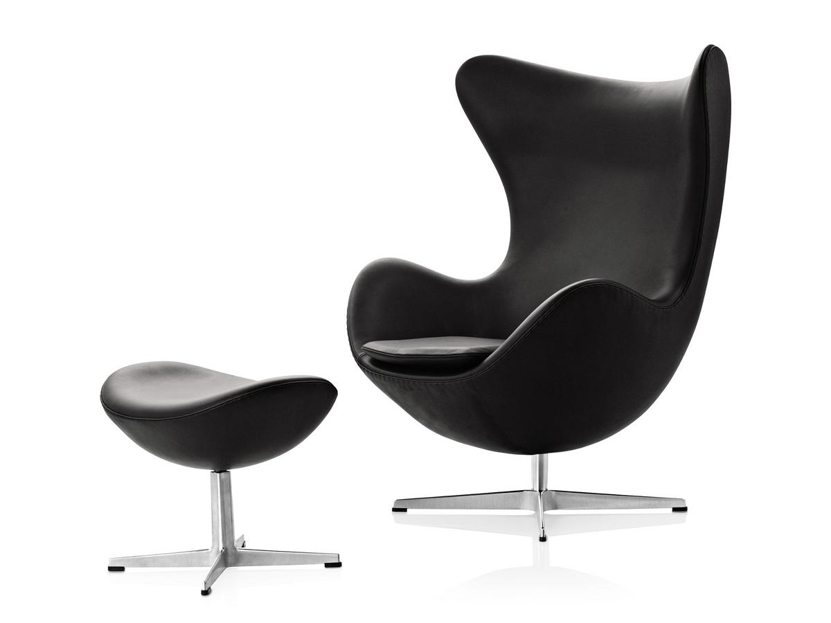 fritz hansen egg footstool by arne jacobsen 1958. Black Bedroom Furniture Sets. Home Design Ideas
