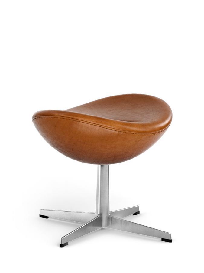 Egg Footstool Elegance Leather|Walnut