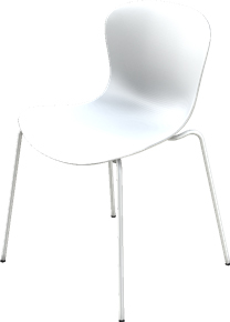Nap Stacking Chair Special Height 47 5 Cm Milk White Shell Colour