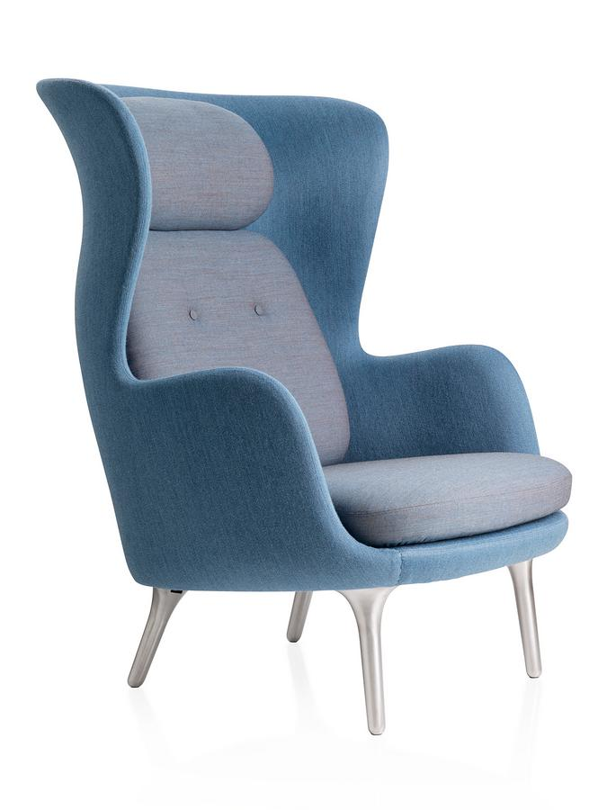 fritz hansen sessel ro 10, fritz hansen ro, light blue, without footstool by jaime hayon, 2013, Design ideen