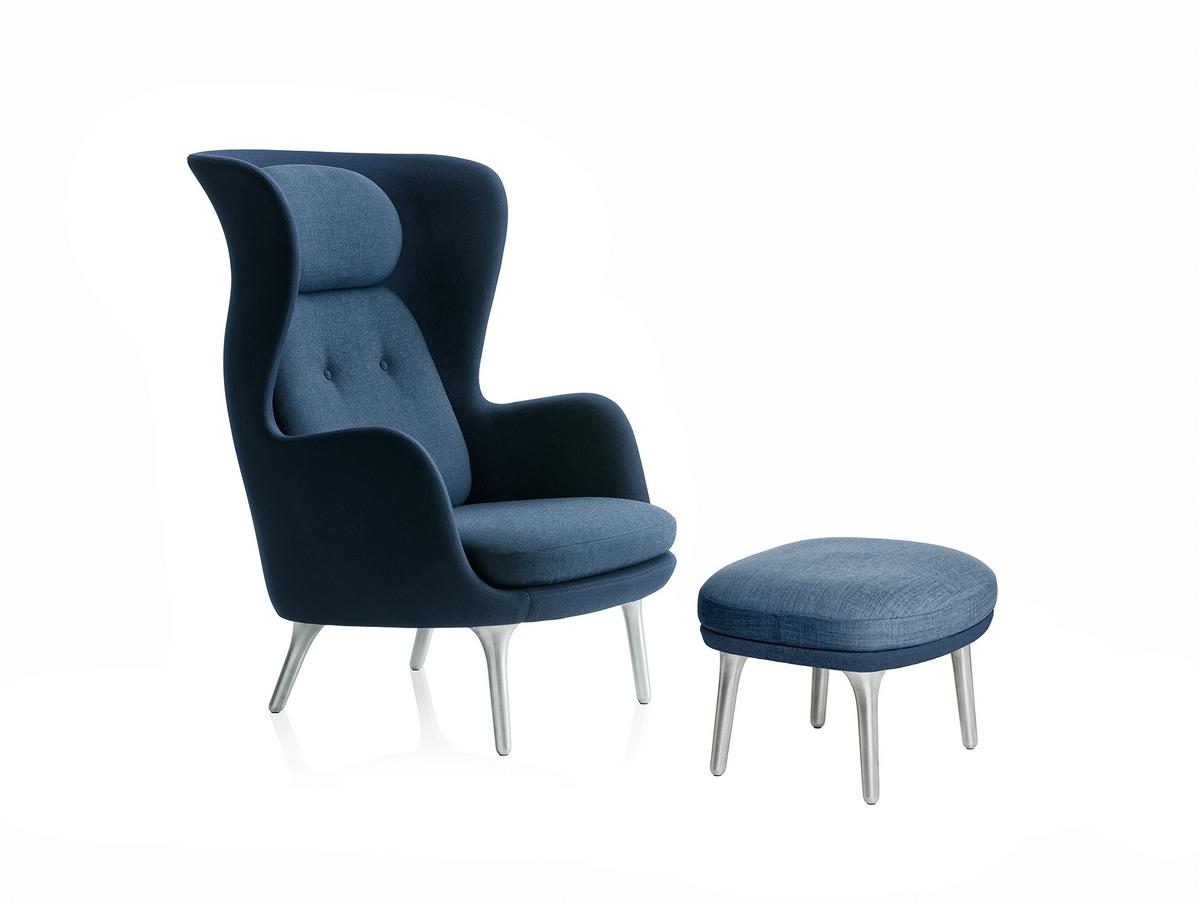 fritz hansen sessel ro 10, fritz hansen ro, dark blue, with footstool by jaime hayon, 2013, Design ideen