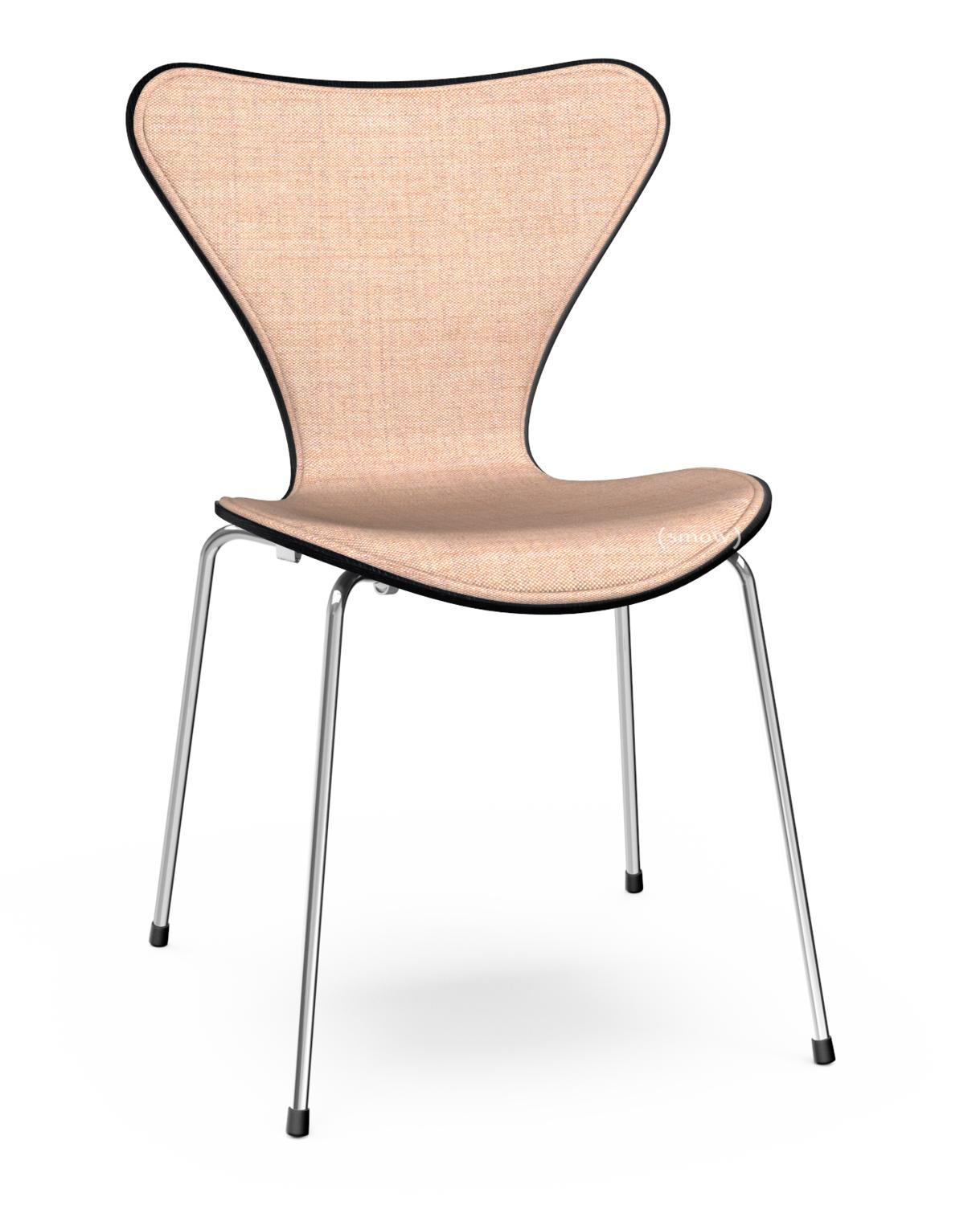 Series 7 Chair Front Upholstered Coloured Ash|Black|Fabric Remix Light  Pink/rose