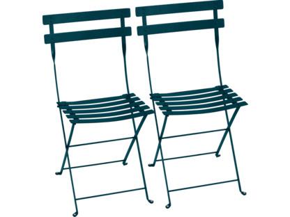 Bistro Folding Chair Set of 2 Acapulco blue