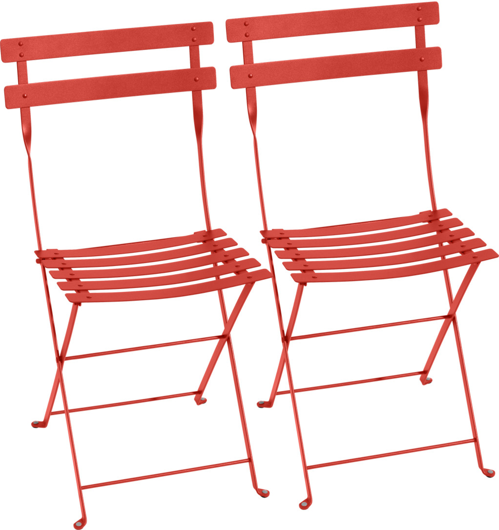 Fermob Bistro Folding Chair Set Of 2 Capucine