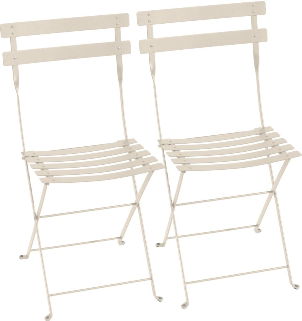 Bistro Folding Chair Set Of 2 Linen