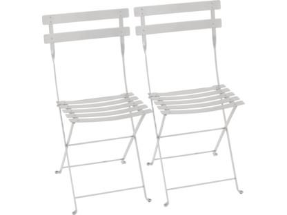 Bistro Folding Chair Set of 2 Steel grey