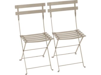 Bistro Folding Chair Set of 2 Nutmeg