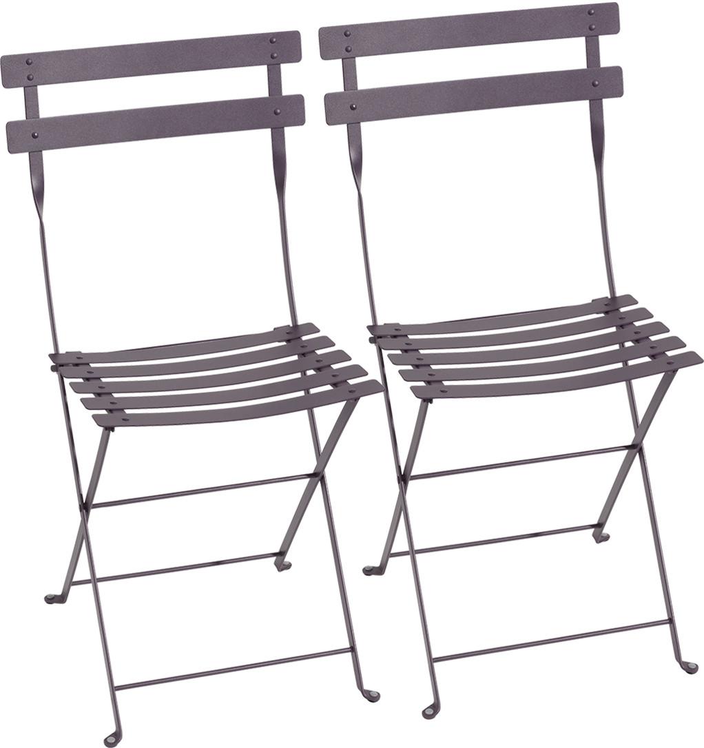Bistro Folding Chair Set Of 2 Plum