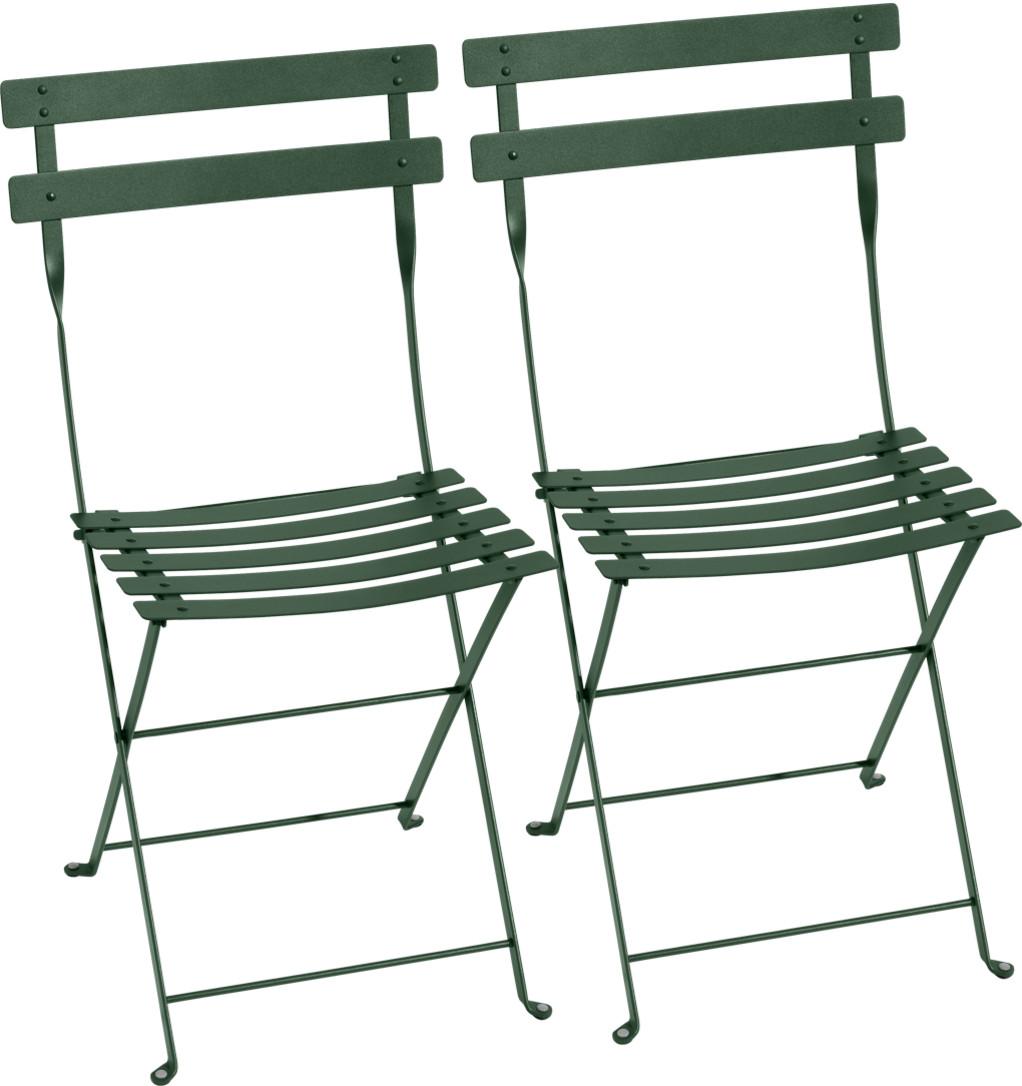 Fermob Bistro Folding Chair Set Of 2 Cedar Green