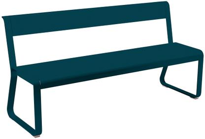 Bellevie Bench with Back Acapulco blue