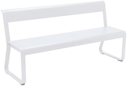 Bellevie Bench with Back Cotton white